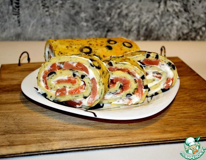 Рецепт: Закусочный рулет Леопардовый