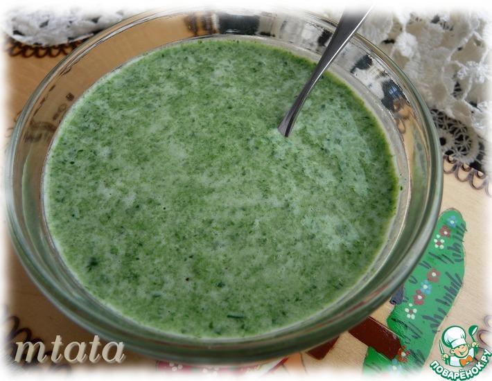 Рецепт: Шпинатно-сливочный соус