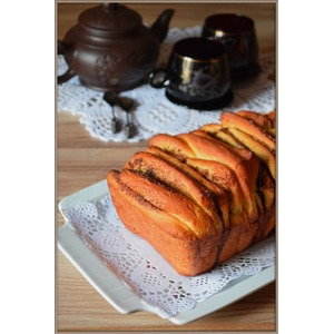 Хлеб Гармошка с тыквой и корицей