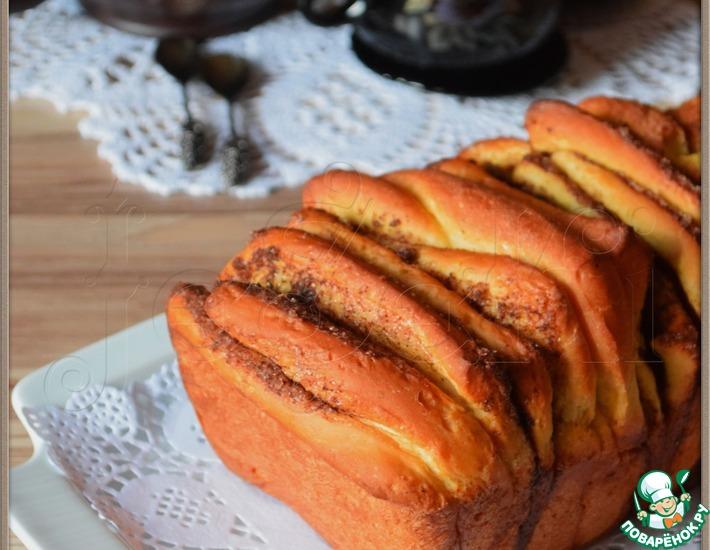 Рецепт: Хлеб Гармошка с тыквой и корицей