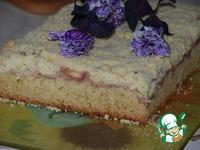 Рецепт Яблочный пирог с пудингом и штрейзелем