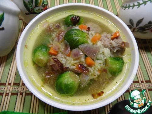 Рецепт Рисово-овощной суп с фрикадельками