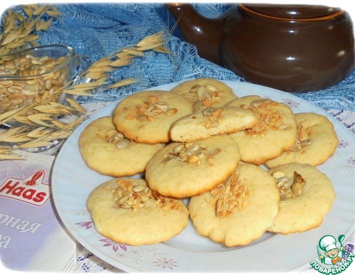 Рецепт: Печенье Гогошь с миндалем и семечками