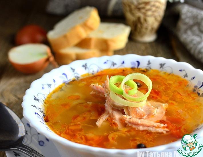Рецепт: Суп из копченого лосося