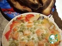 Рецепт Морковь с горохом в белом соусе