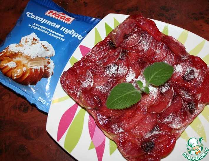 Рецепт: Тарт Татен с яблоками и вишней