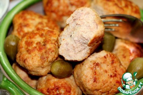 Рецепт Критские кефтедес из мяса индейки