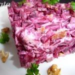 Салат со свеклой и индейкой