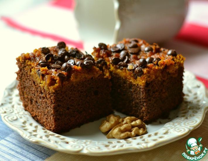 Рецепт: Пирожное брауни с тыквой