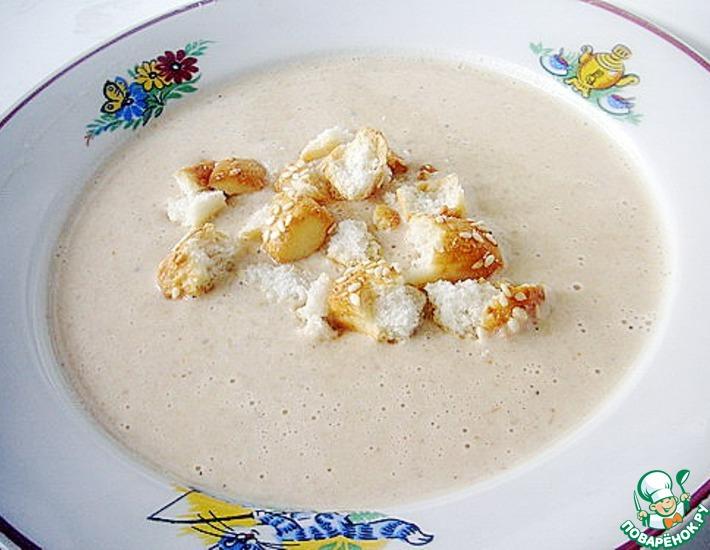Рецепт: Луково-сырный суп-пюре