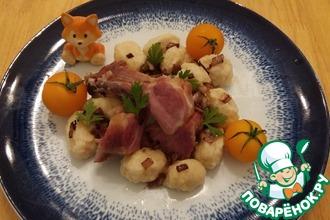 Рецепт: Копченые ребрышки с клецками Ужин батрака