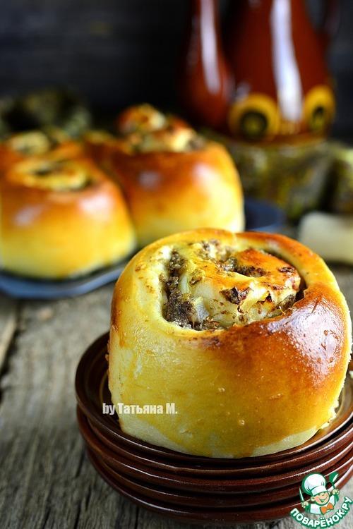 Рецепт Сытный разборный пирог с начинкой