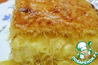 Рецепт: Пирог с творогом из теста Кадаиф
