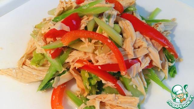 Рецепт Салат с сельдереем и сухой спаржей