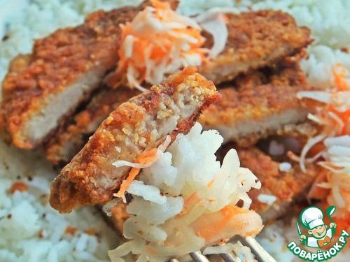 Рецепт Отбивные в хрустящей корочке с рисом