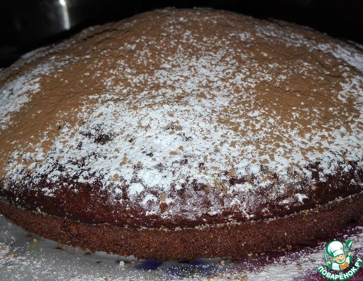 Рецепт: Шоколадно-вишнёвый кекс