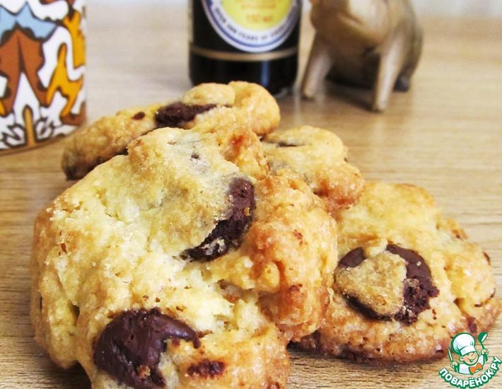Рецепт: Соленое печенье с темным шоколадом