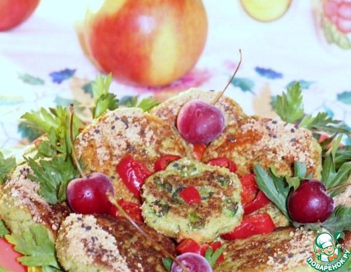 Рецепт: Картофельно-рисовые оладьи с творогом