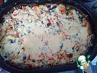 Рецепт Овощи в сметанно-сырном соусе