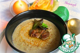 Рецепт: Крем-суп из гречки с печенью