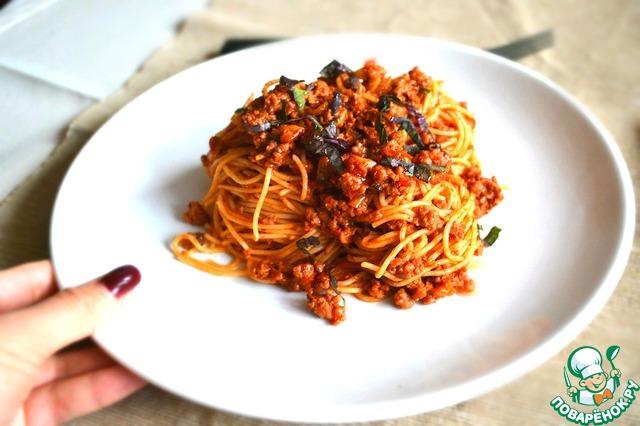 """Рецепт Паста """"Болоньезе"""" с секретным ингредиентом"""