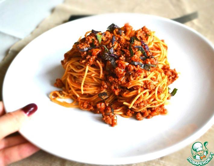 Рецепт: Паста Болоньезе с секретным ингредиентом
