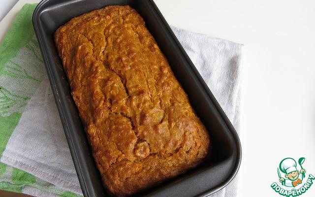 Рецепт Морковный кекс с курагой и имбирем (без сахара)