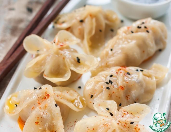Рецепт: Китайские паровые пельмени