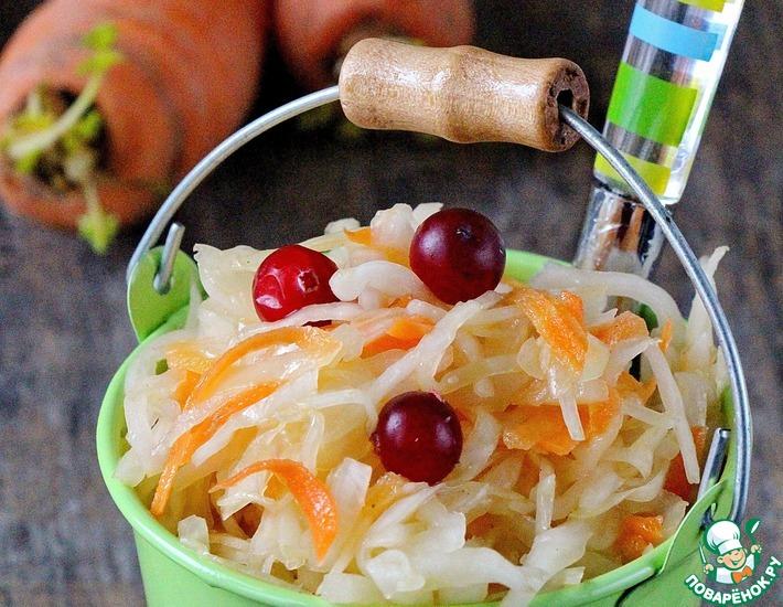 Рецепт: Маринованная капуста с горчицей