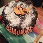 Персиковый торт со сливками