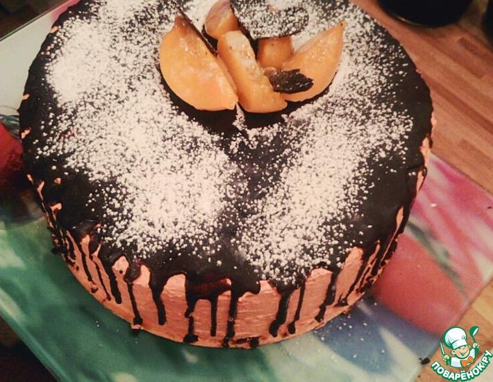 Рецепт: Персиковый торт со сливками