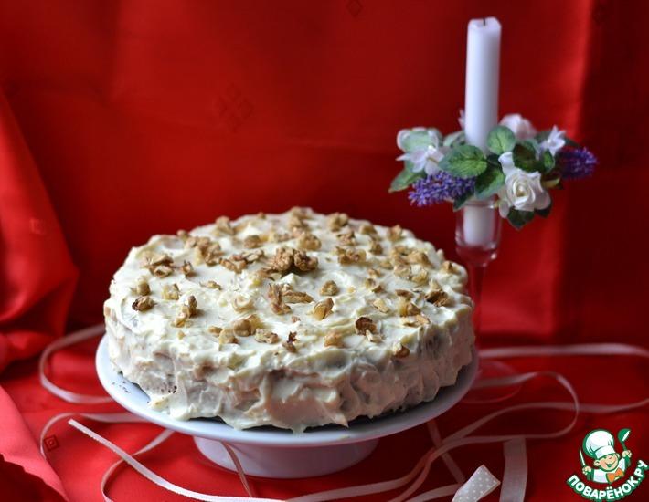 Рецепт: Тыквенно-ореховый торт