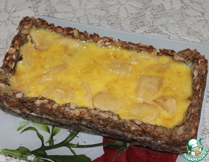 Рецепт: Яблочный пирог с хлопьями и маком
