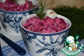 Рецепт: Салат со свеклой и рыбой Зимний