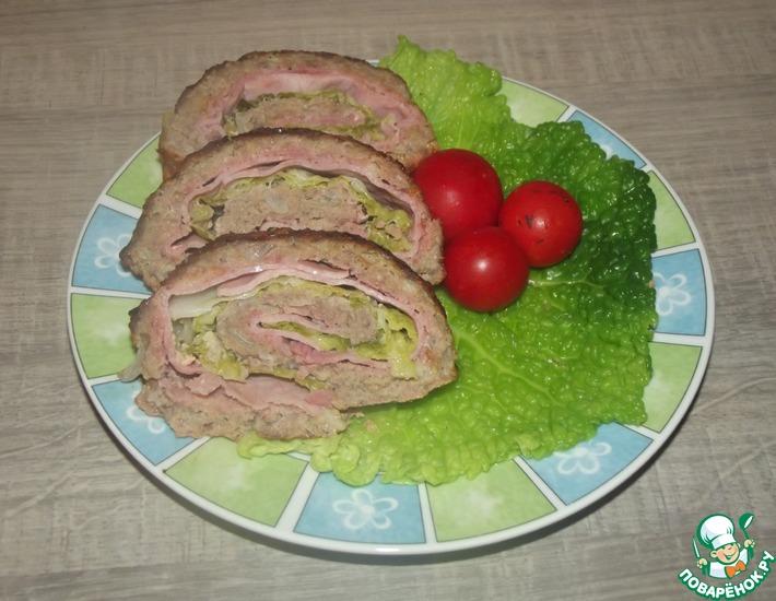 Рецепт: Мясной рулет с савойской капустой