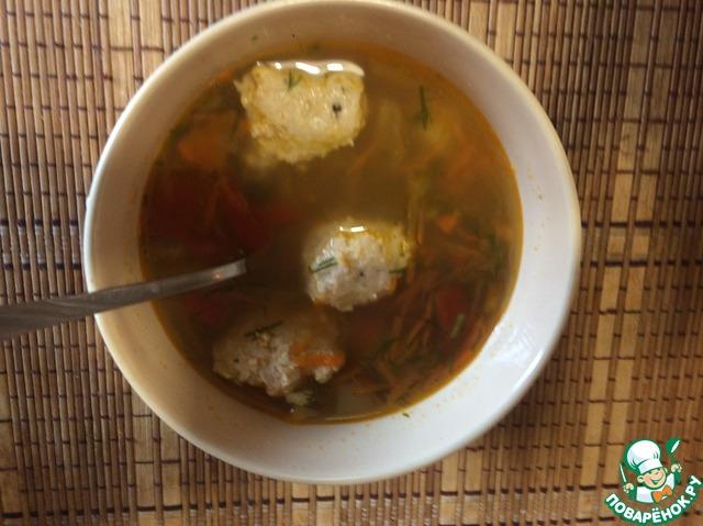 Рецепт Суп с куриными шариками