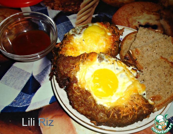 Рецепт: Мясные лодочки с яйцом