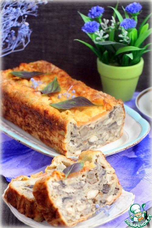 Рецепт Пирог из лаваша «А-ля жульен»