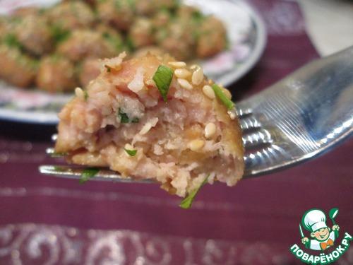Рецепт Фрикадельки из курицы в азиатском стиле
