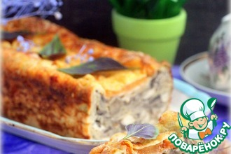 Рецепт: Пирог из лаваша «А-ля жульен»