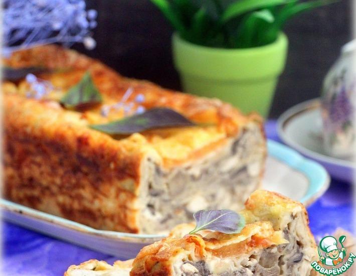 Рецепт: Пирог из лаваша «А-ля жюльен»