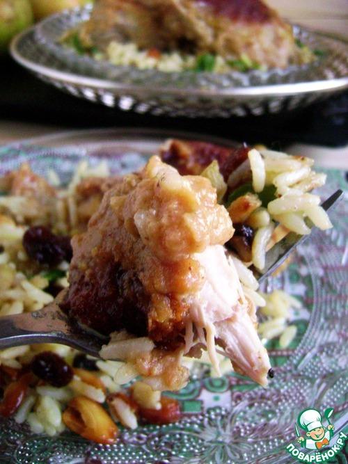 Рецепт Пряный рис и курица в яблочном карри