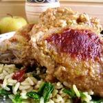 Пряный рис и курица в яблочном карри