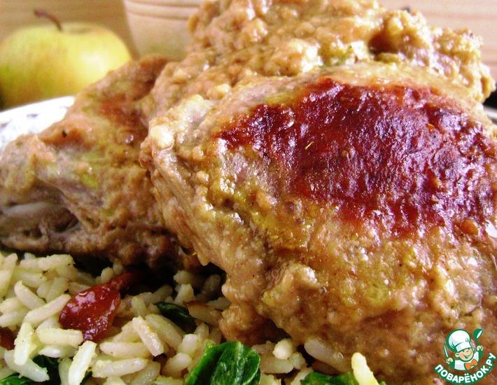 Рецепт: Пряный рис и курица в яблочном карри