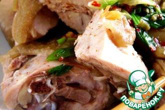 Рецепт: Вареная курица по-китайски Для лентяек