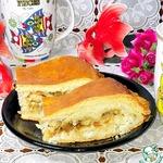 Кулебяка с треской и рисом