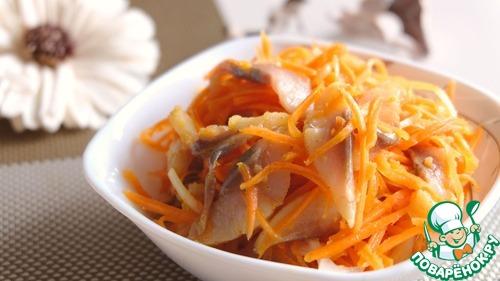 Рецепт Острый салат с сельдью