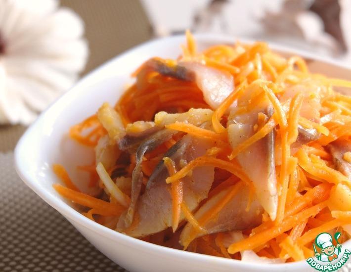 Рецепт: Острый салат с сельдью