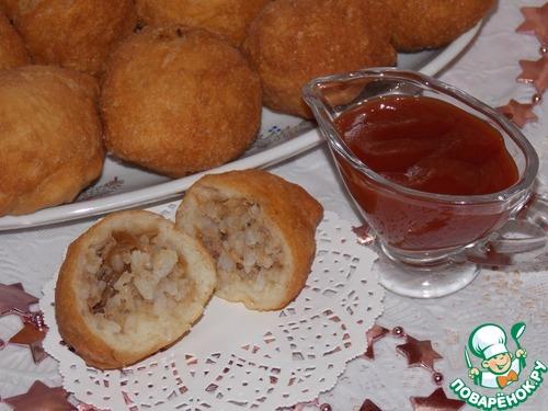 Рецепт Пирожки-колобки с рисом и тунцом
