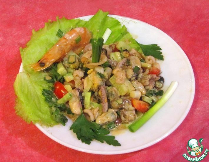 Рецепт: Салат с креветками